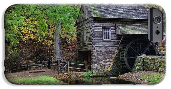 Grist Mill iPhone Cases - Country Mill And Pond iPhone Case by Paul Ward