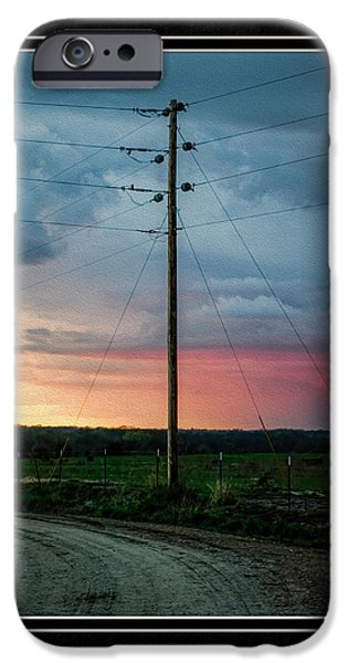 Matting iPhone Cases - Country Sunset iPhone Case by Charles Feagans