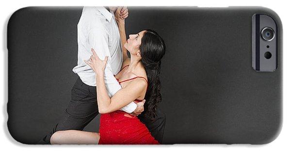 Psi iPhone Cases - Couple dances tango  iPhone Case by Ilan Rosen