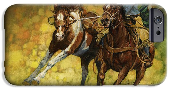iPhone Cases - Rodeo Pickup iPhone Case by Don  Langeneckert