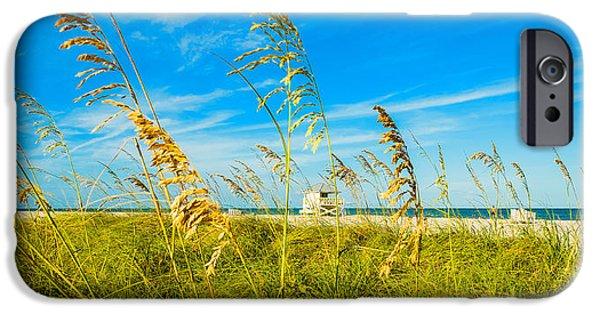 Beach Landscape iPhone Cases - Crandon Park Beach iPhone Case by Raul Rodriguez