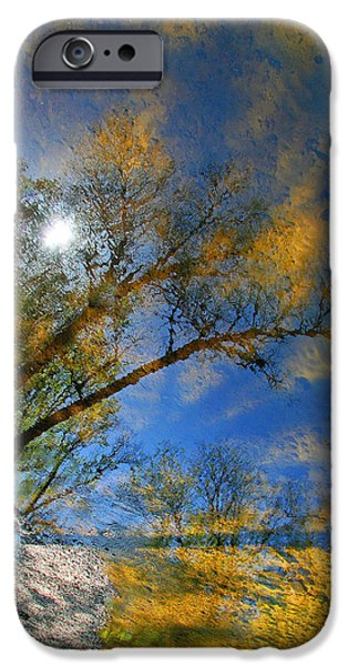 Cora Wandel iPhone Cases - Creek Reflections iPhone Case by Cora Wandel