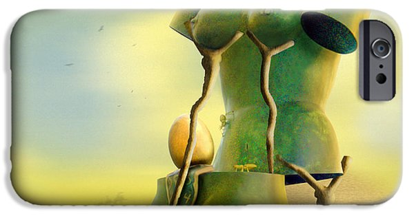 Surrealism Digital Art iPhone Cases - Crutches iPhone Case by Mike McGlothlen