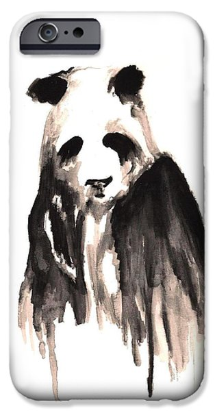Michael Mixed Media iPhone Cases - Crying Panda iPhone Case by Mike Grubb