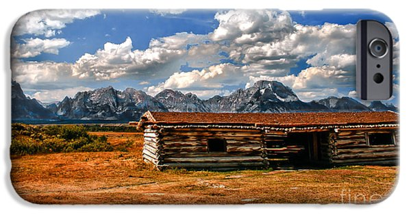 Log Cabin Photographs iPhone Cases - Cunningham Cabin III  iPhone Case by Robert Bales
