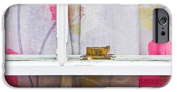 Interior Scene iPhone Cases - Curtain iPhone Case by Tom Gowanlock