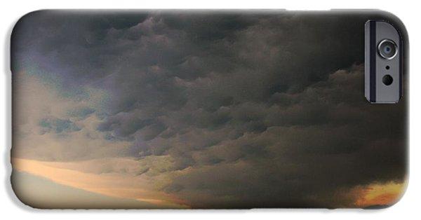 Storm iPhone Cases - Custer County Nebraska Supercells iPhone Case by NebraskaSC