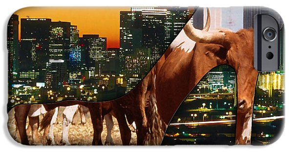 Dallas iPhone Cases - Dallas Texas Skyline iPhone Case by Marvin Blaine