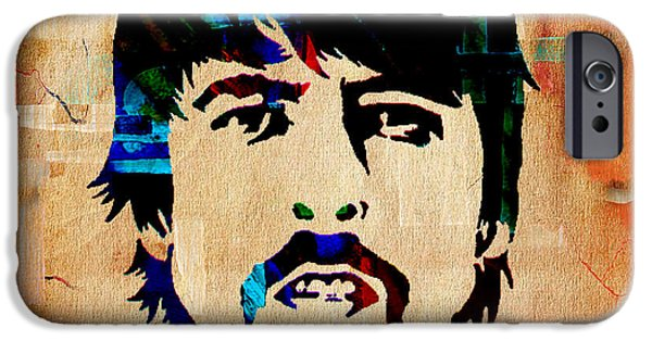 Foo Fighters iPhone Cases - Dave Grohl Foo Fighters iPhone Case by Marvin Blaine