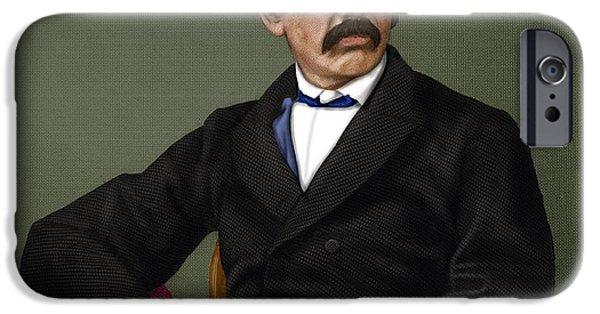 Anti-slavery iPhone Cases - David Livingstone, Scottish Explorer iPhone Case by Maria Platt-Evans