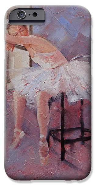 Young Paintings iPhone Cases - Day Dreamer iPhone Case by Laura Lee Zanghetti