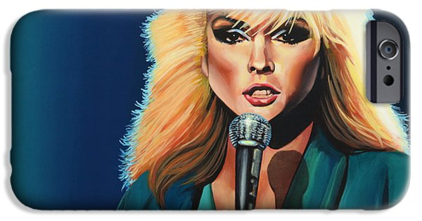 Stein iPhone Cases - Deborah Harry or Blondie iPhone Case by Paul  Meijering