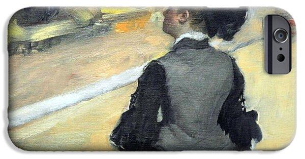 Cora Wandel iPhone Cases - Degas Woman Viewed From Behind iPhone Case by Cora Wandel