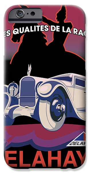 Vector Posters iPhone Cases - Delahaye iPhone Case by Gary Grayson