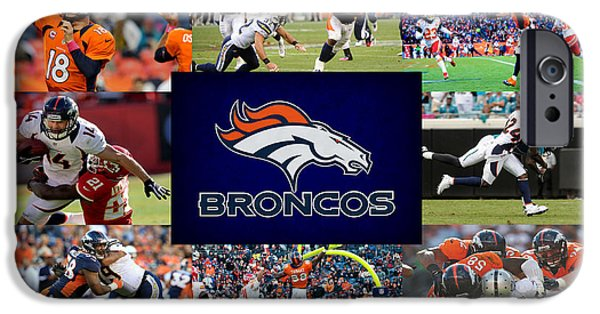 Shoe iPhone Cases - Denver Broncos iPhone Case by Joe Hamilton
