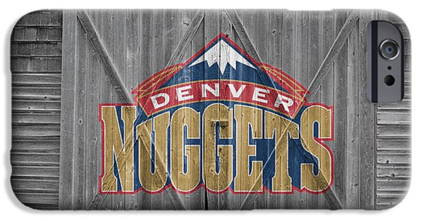 Basket iPhone Cases - Denver Nuggets iPhone Case by Joe Hamilton
