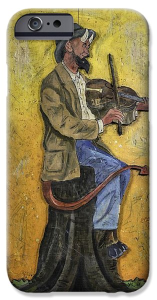 Nashville Tennessee Paintings iPhone Cases - Devil Went Down To Georgia iPhone Case by Eric Cunningham