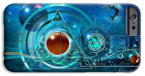 The Sun God iPhone Cases - Digital Genesis iPhone Case by Franziskus Pfleghart