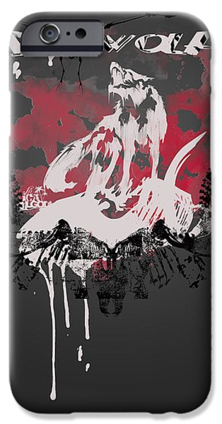 Normal iPhone Cases - Dire Wolf iPhone Case by Pop Culture Prophet