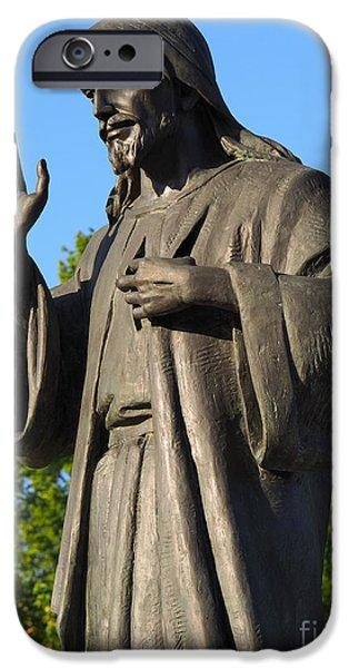 Divine Mercy iPhone Cases - Divine Mercy statue iPhone Case by Andrzej Tokarski