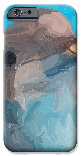 Playful Digital iPhone Cases - Dolphin iPhone Case by Chris Butler