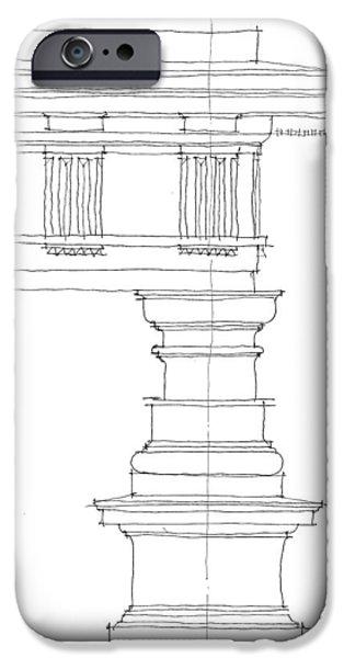 Doric Order iPhone Case by Calvin Durham