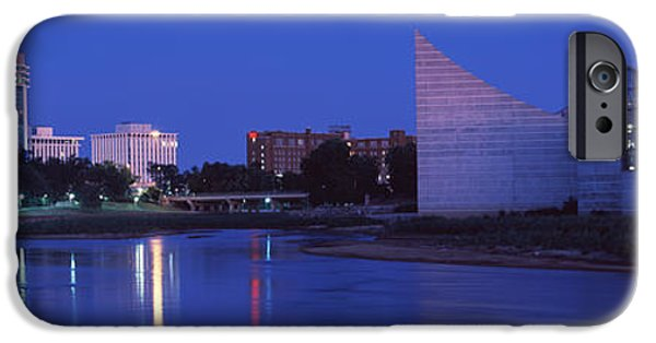 Arkansas Photographs iPhone Cases - Downtown Wichita Viewed From The Bank iPhone Case by Panoramic Images