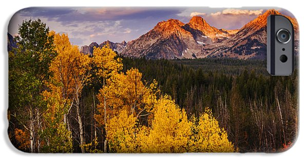 Plant iPhone Cases - Dramatic Sawtooth Autumn Sunrise  iPhone Case by Vishwanath Bhat