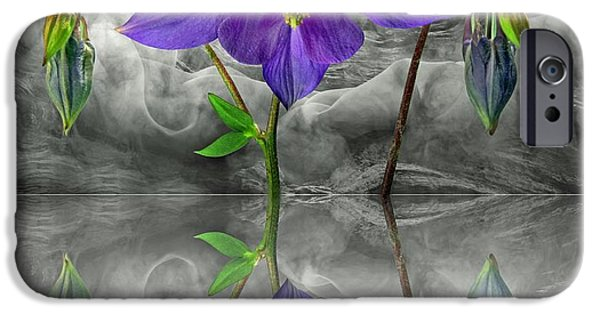 Moon Glass Art iPhone Cases - Dream iPhone Case by Manfred Lutzius