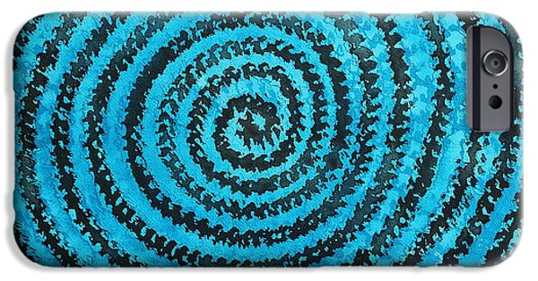 Torsion iPhone Cases - Dreamcatcher original painting iPhone Case by Sol Luckman