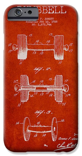Recently Sold -  - Technical iPhone Cases - Dumbbell Patent Drawing from 1927 iPhone Case by Aged Pixel