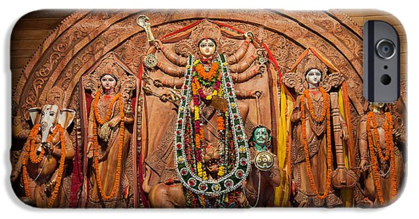 Recently Sold -  - Hindu Goddess iPhone Cases - Durga Puja festival iPhone Case by Rudra Narayan  Mitra