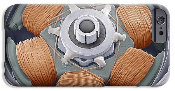 Electrical Equipment iPhone Cases - Dvd Drive Motor, Sem iPhone Case by Steve Gschmeissner