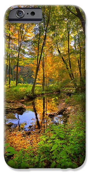 Kent Connecticut iPhone Cases - Early Autumn iPhone Case by Bill  Wakeley
