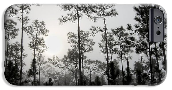 Slash iPhone Cases - Early morning fog Landscape iPhone Case by Rudy Umans