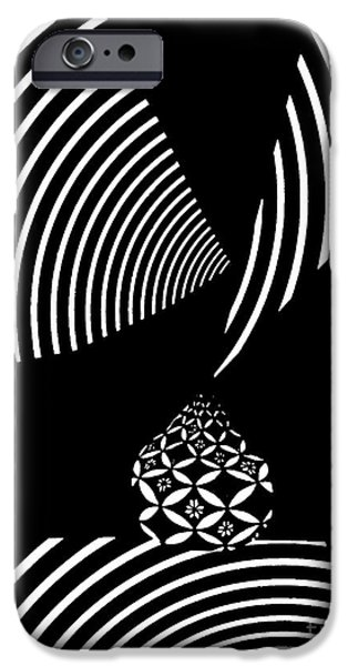 Stripes iPhone Cases - Echo in Time iPhone Case by Sarah Loft