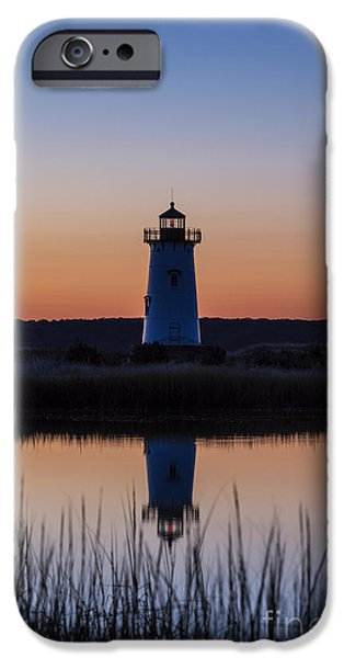 Salt Marsh. New England iPhone Cases - Edgartown Light Sunrise iPhone Case by John Greim