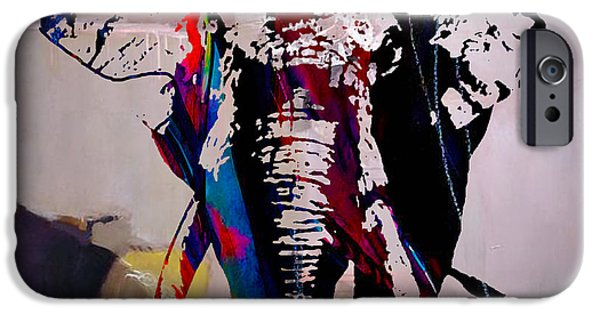 Elephants iPhone Cases - Elephant iPhone Case by Marvin Blaine