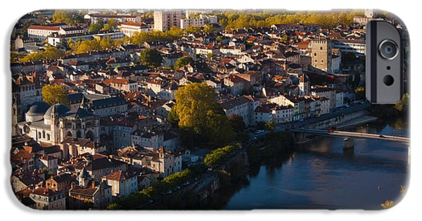 Midi iPhone Cases - Elevated View Of A Town Viewed iPhone Case by Panoramic Images