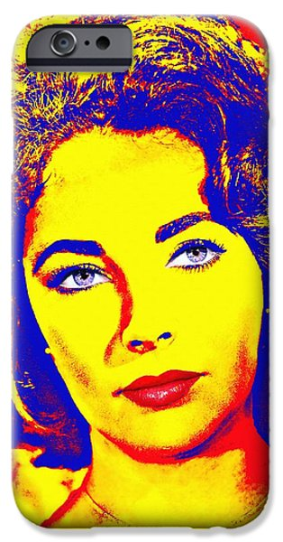 Choker iPhone Cases - Elizabeth Taylor iPhone Case by Art Cinema Gallery