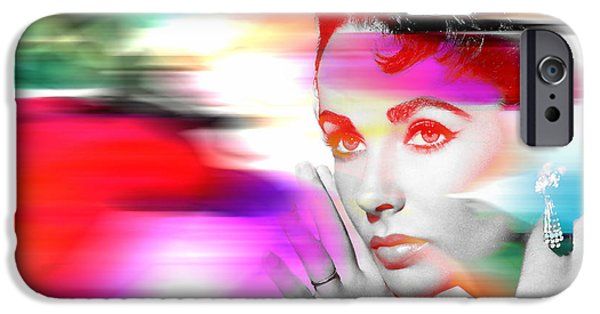 Taylor iPhone Cases - Elizabeth Taylor iPhone Case by Marvin Blaine