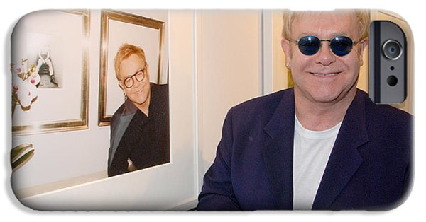 Piano iPhone Cases - Elton watching Elton iPhone Case by Philip Shone
