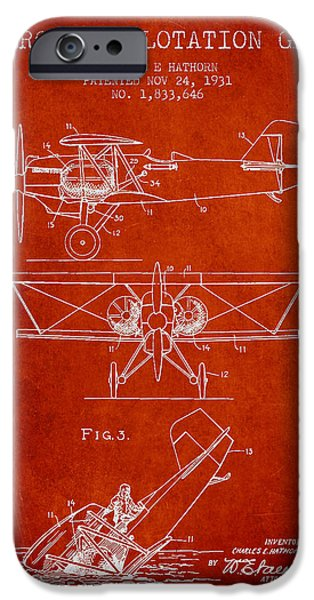 Technical iPhone Cases - Emergency flotation gear patent Drawing from 1931 iPhone Case by Aged Pixel