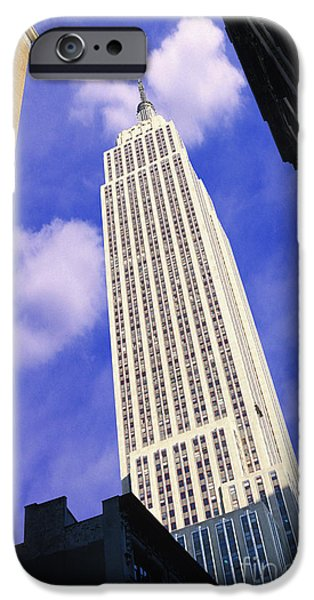 Buildings Mixed Media iPhone Cases - Empire State Building iPhone Case by Jon Neidert