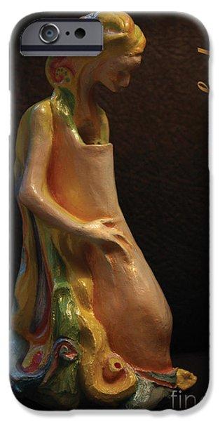 Innocence Sculptures iPhone Cases - Empty Vessel iPhone Case by Anastasiya Verbik