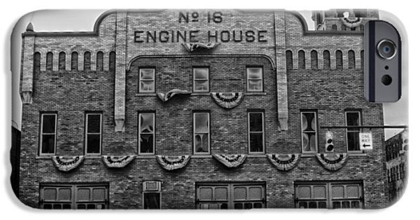 Flag iPhone Cases - Engine House Number 16 - Columbus Ohio iPhone Case by Mountain Dreams