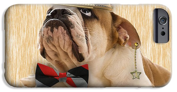 Dog iPhone Cases - English Bulldog Bowtie Collection iPhone Case by Marvin Blaine