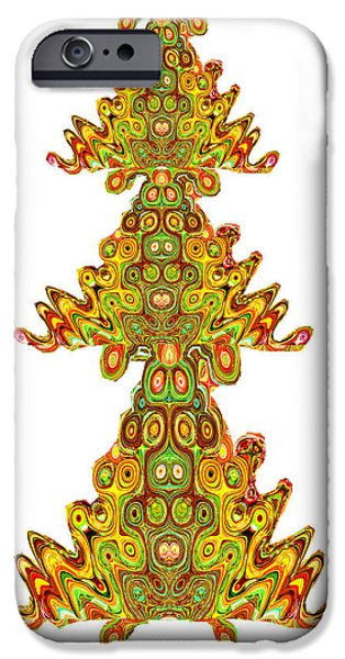 Electronic iPhone Cases - Ethinic Indian Aboriginal India Spiritual Vintage Palace Temple Walls style Images of Spirits Ghosts iPhone Case by Navin Joshi