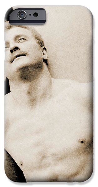 Homo-erotic iPhone Cases - Eugen Sandow iPhone Case by George Steckel
