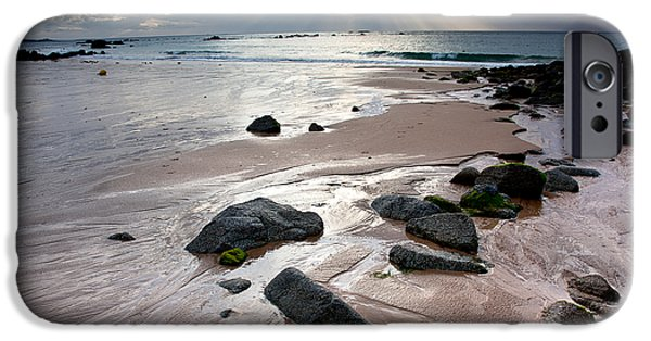 Peninsula iPhone Cases - Evening at the Sea iPhone Case by Nailia Schwarz